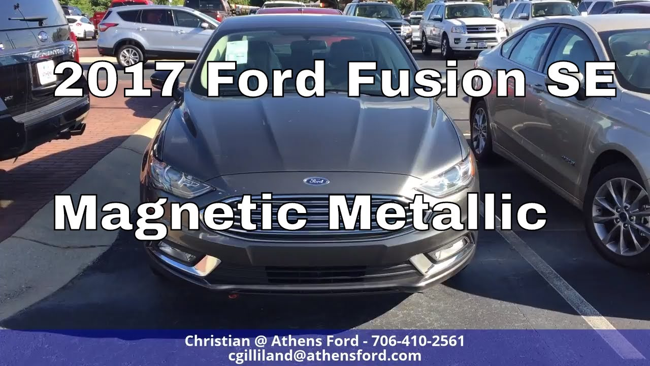 2017 Ford Colors >> 2017 Ford Fusion Se Magnetic Metallic Color Quick Walk Around