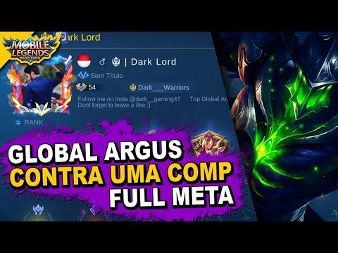 O TOP GLOBAL ARGUS DARK LORD QUEBRANDO O META - MOBILE LEGENDS