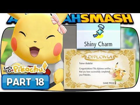 Pokemon Let's Go Pikachu & Eevee - Part 18: SHINY CHARM! (100% Walkthrough)