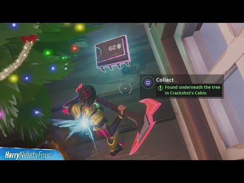 Fortbyte #29: Found Underneath the Tree in Crackshot's Cabin Location Guide - Fortnite