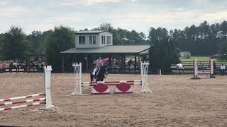 "Lainie and Luck Dragon blue ribbon 2' 9"" jumper round Sept. 2018"