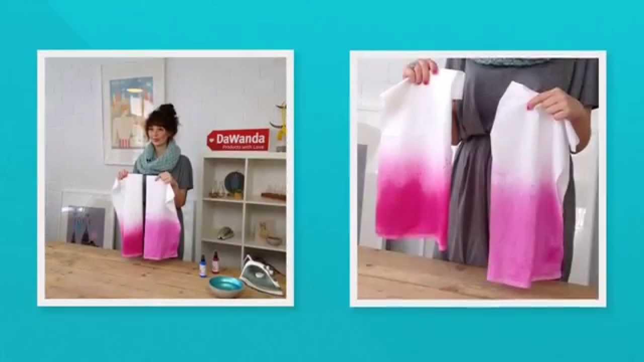 making of stoffservietten mit h bschen farbverlauf dawanda marabu youtube. Black Bedroom Furniture Sets. Home Design Ideas