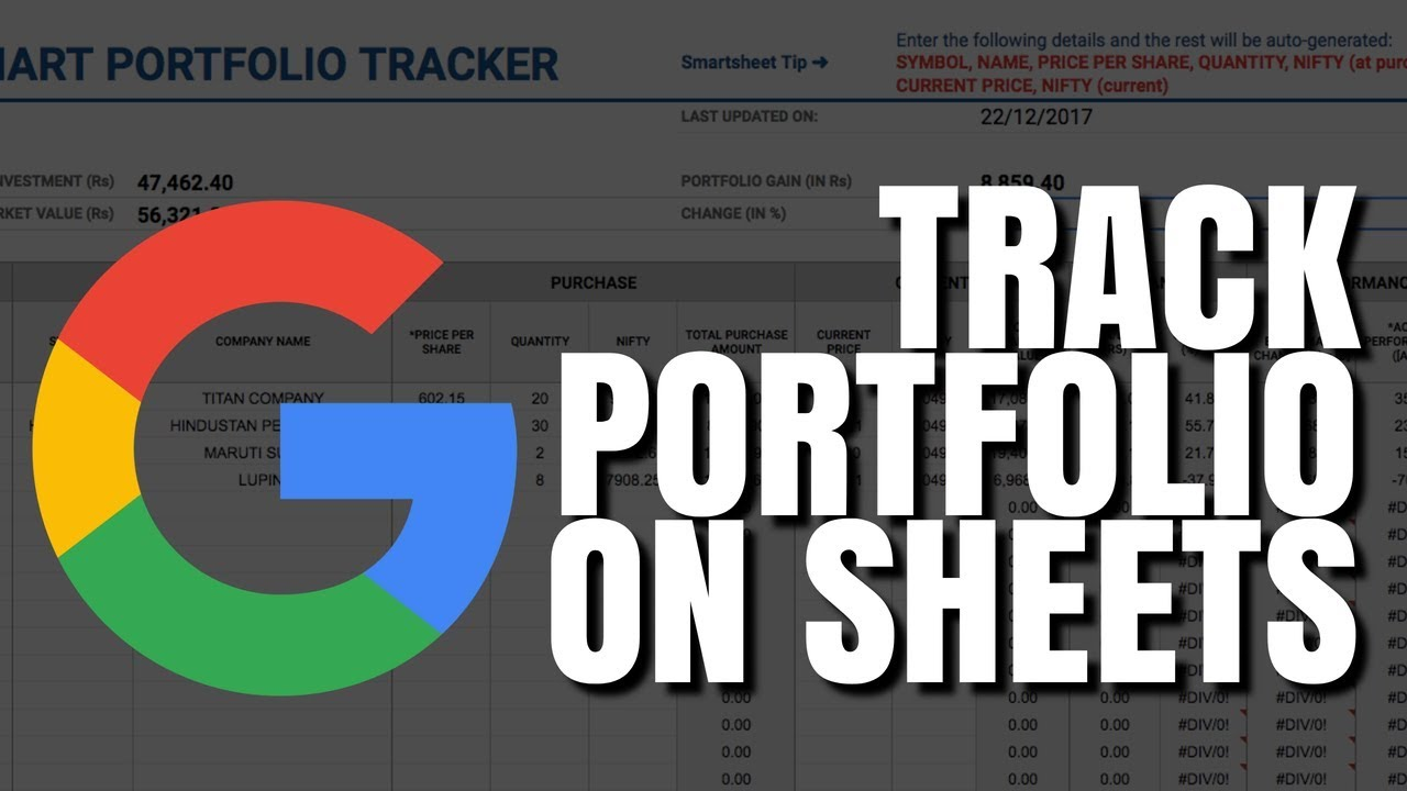 how to track your stock portfolio using google sheets free