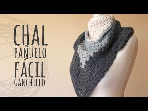 Tutorial Chal Fácil para Principiantes Ganchillo | Crochet - YouTube