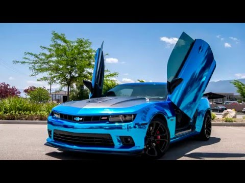 Chevrolet Camaro 5th Gen Ss Blue Chrome Vertical Lambo