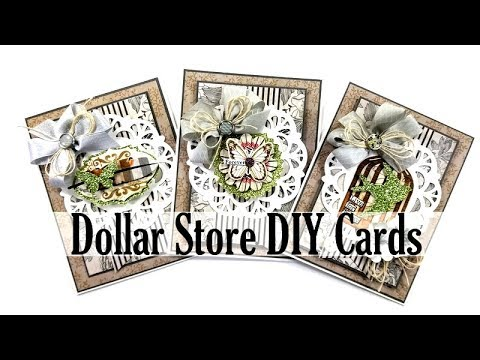 Vintage Inspired Cards With Altered Dollar Store Stickers Polly's Paper Studio Tutorial Process DIY
