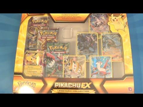 Pokemon Karten Pikachu Ex.Mega Pokemon Legendar Kollektion Pikachu Ex Box Opening Unboxing Deutsch German