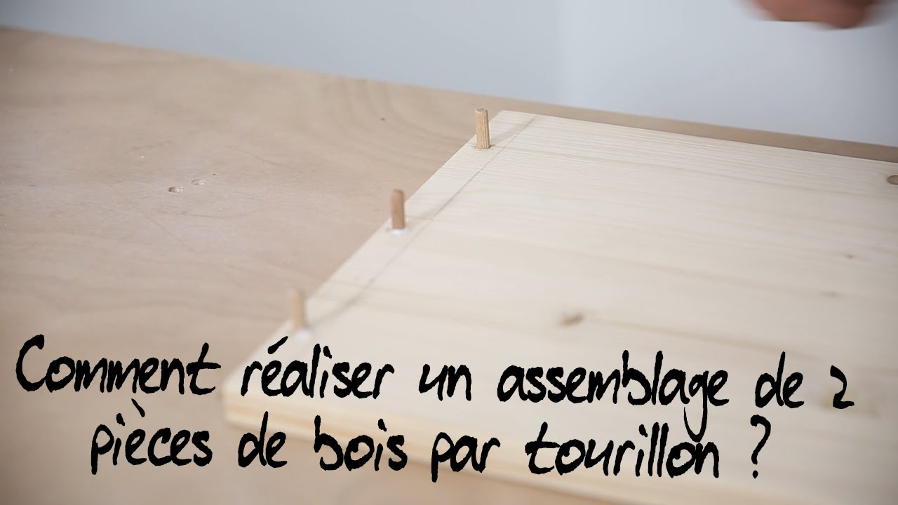 comment r aliser un assemblage invisible de 2 pi ces de bois par tourillon youtube. Black Bedroom Furniture Sets. Home Design Ideas