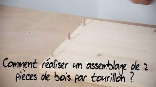 Comment réaliser un assemblage invisible de 2 pièces de bois par tourillon ?