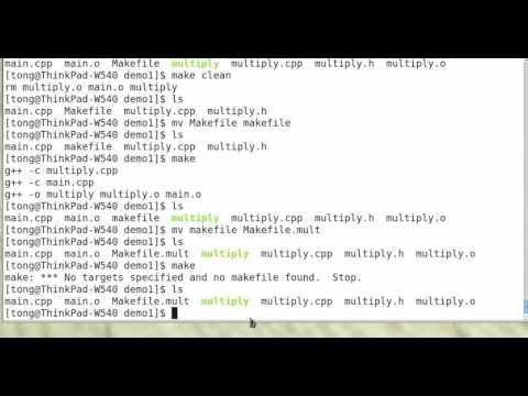 Basic Makefile and Program Development
