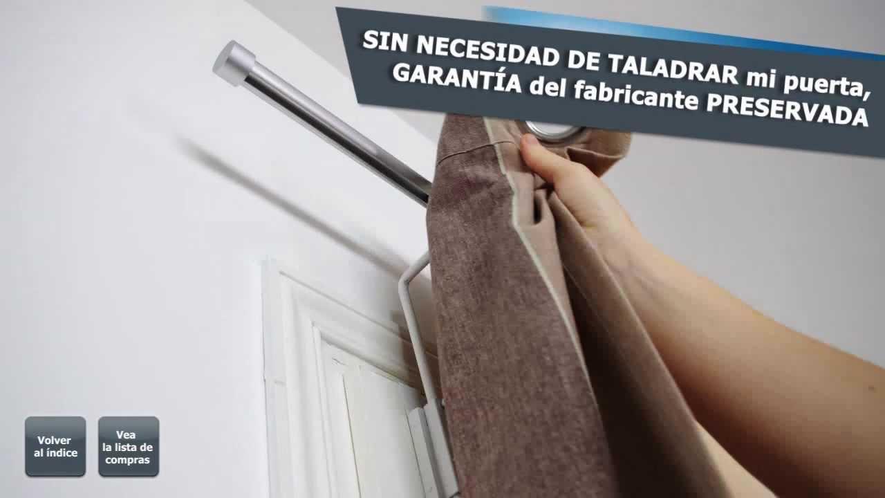 Barra de cortina para instalar en puerta youtube for Cortinas para puertas de armarios