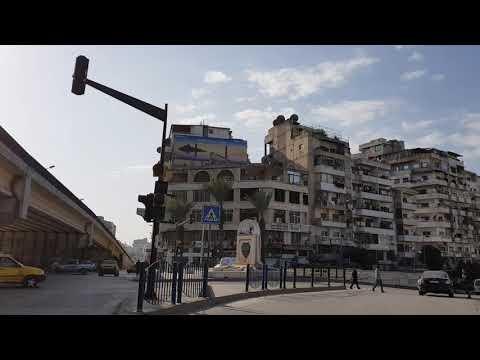 29.12.2017 Fahrt durch Latakia zum Stadion.