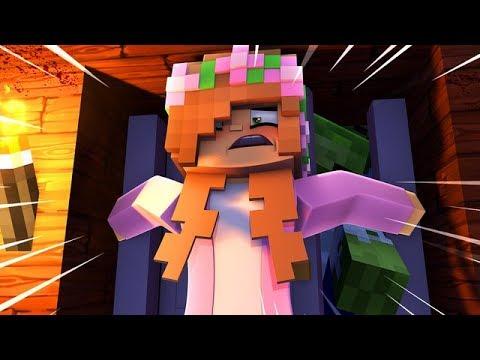 ESCAPE THE BASEMENT | ZOMBIE APOCALYPSE ! Minecraft Little Kelly