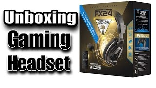 unboxing gaming headset turtle beach px24 para ps4 xbox one pc mac y mobile