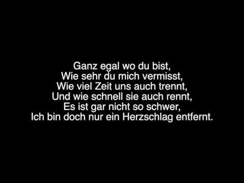 Nur ein Herzschlag entfernt- Wincent Weiss(lyrics)