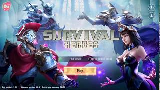 trải nghiệm game Survival Heroes - game moba sinh tồn