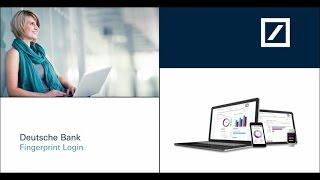 Deutsche Bank Fingerprint Login