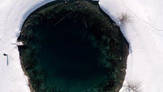 Голубое озеро, зимнее погружение. Самарская область.