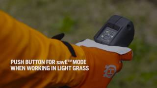 Husqvarna Battery Trimmer savE Mode