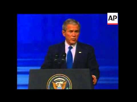 President Bush spoke in the United Arab Emirates today and called Iran the world's leading state spo