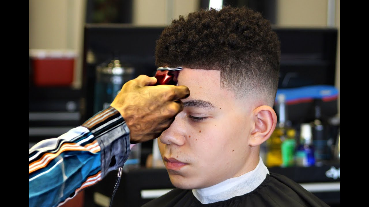 Haircut How To Do A Drop Fade Curl Sponge Hd Youtube