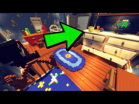 LIFE SIZE TOY STORY BEDROOM! Lego Lucky Blocks Minecraft Mini-Game!