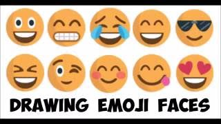 How to Draw Emojis and Emoji Faces Easy Step by Step Tutorial Speed Draw