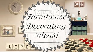 ✨FARMHOUSE DECORATING IDEAS | FARMHOUSE DECOR | FARMHOUSE DECOR DIY | DECORATE WITH ME✨