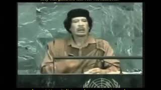 Libya's Colonel Gaddafi At UN Calls Out Big Pharma For Manufacturing Viruses & Vaccine Prof