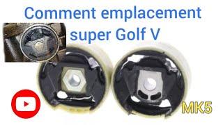 changer ou remplacement support moteur golf 5