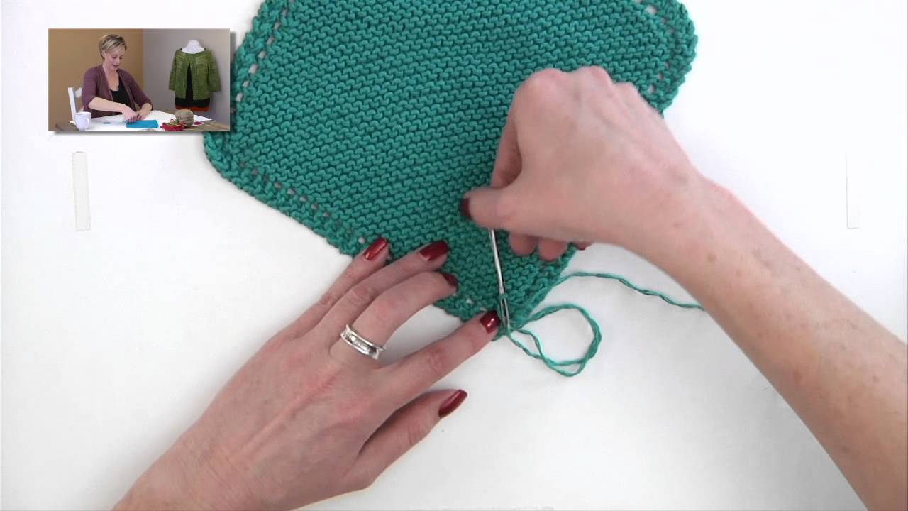 Loose End Stitches Knitting : Knitting Help - Weaving in Cotton Ends - YouTube