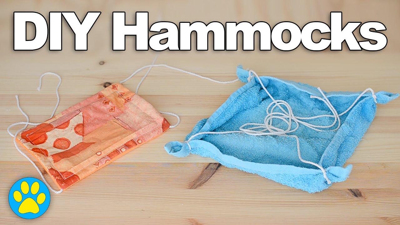 2 DIY Hamster Hammocks | #DIYJuly - YouTube
