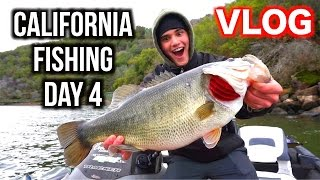 day in the life california fishing day 4 vlog new pb bass