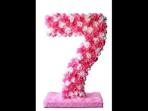 Цифра 7 на день рождения своими руками