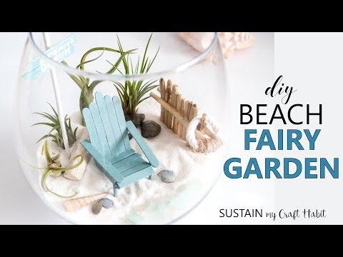 DIY Beach-Themed Air Plant Terrarium // Easy Coastal Fairy Garden