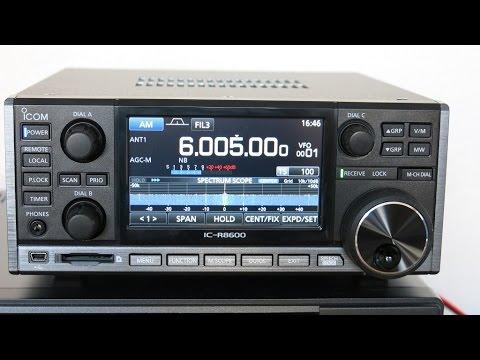 Icom IC-R8600 - First Impressions in Europe by Fenu-Radio