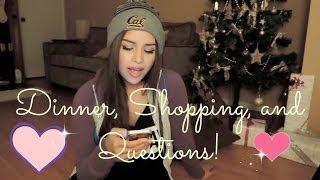 Vlogmas Day 18: Dinner, Shopping, Q&A! ♡