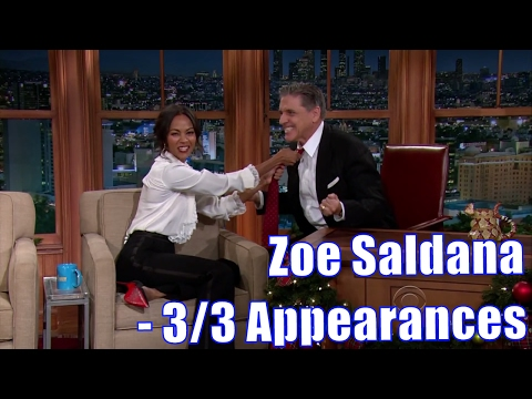 Zoe Saldana  Has Craig On A Leash  33 Appearances In Chron. Order Mostly HD