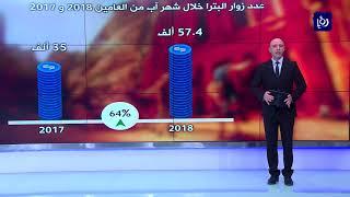 ارتفاع عدد زوار البترا في شهر آب الماضي