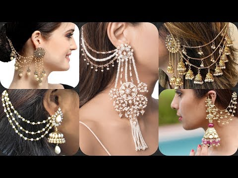 New Latest Sahara Earring Designs 2019 || Earrings With Chain For Indian Wear