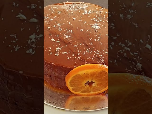 #shorts Orange Fudge Cream Cake With Orange Ganache