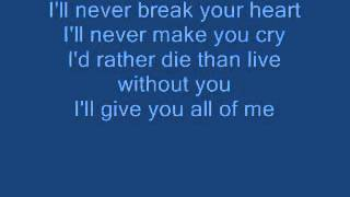 Backstreet Boys - ill Never Break Your Heart {Lyrical Video}