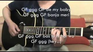 GirlFriend BoyFriend Sooraj Pancholi, Jacqueline Fernandez (Acoustic Guitar Karaoke)