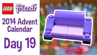 Lego Friends 2014 Advent Calendar - Day 19 - A Sofa!