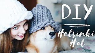 DIY   Шапка из толстой пряжи   Helsinki hat