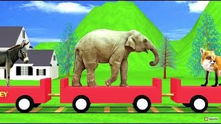 animal train   sound effects   learning for kids