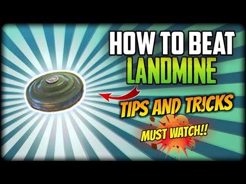FREEFIRE- HOW TO BEAT LANDMINE IN FREEFIRE!! BEST TIPS AND TRICKS!! ||FREEFIRE BATTELGROUND||
