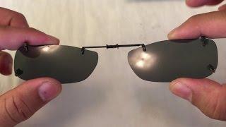 simple CLIP-ON SUNGLASSES for prescription eye glasses
