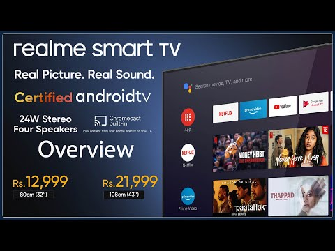 Realme Smart TV Launched 32 Inch(12,999) And 43 Inch(21,999) Overview