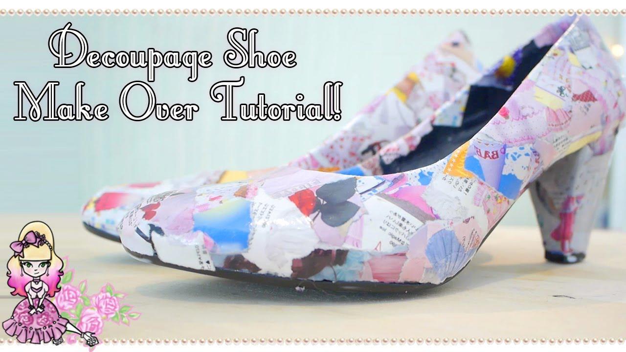 a01137be01bf How To Make Decoupage Magazine Shoes - Craft Tutorial - Violet LeBeaux